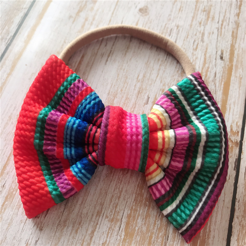 Baby Headband Baby Girl Headbands For Girls Bandeau Bebe Fille Baby HeadwrapTurban Nylon Baby Bows Headband For Girls