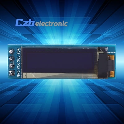 1pcs 0.91 128x32 IIC I2C White DIY OLED LCD Display Module 3.3V For PIC Arduino