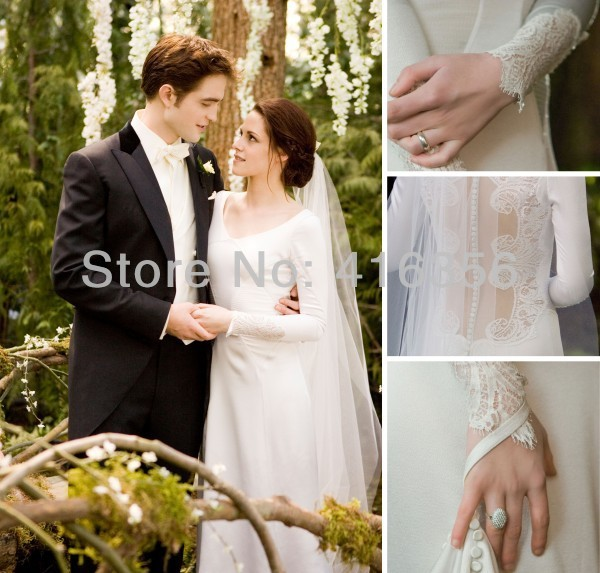 Bella Wedding Dress Bella Swan Twilight Breaking Down The Stunning Gown  Court Train Real Sample A-029 a8f432c318b3