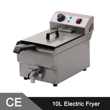 10L Electric Commercial Deep Fryer Single Tank Single Basket Stainless Steel Bench Top