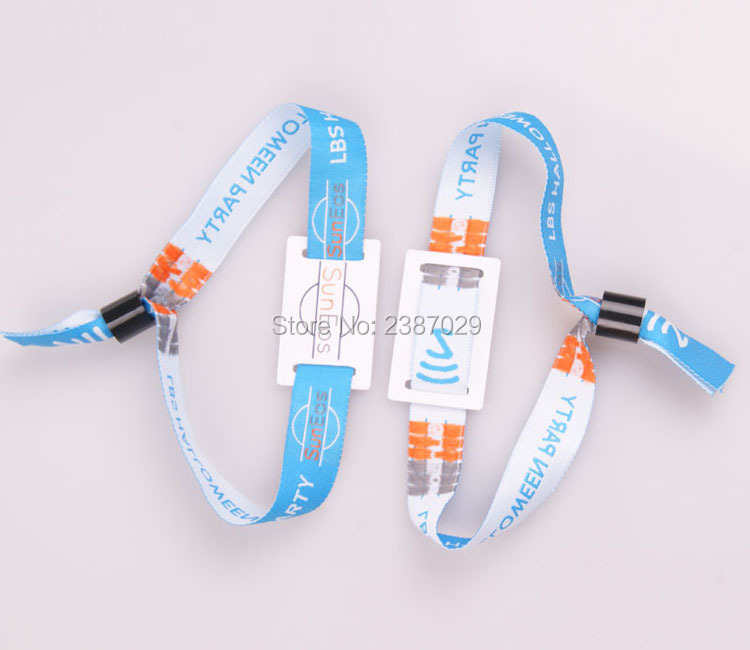 Customized Printing Cashless Payment ISO14443A 13.56MHZ Ultralight Fabric RFID Woven Bracelet Wristband for Festival Events customized printing cashless payment iso14443a 13 56mhz ultralight fabric rfid woven bracelet wristband for festival events