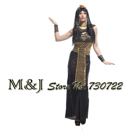 Halloween colplay clothing fabrics of high-grade fold ancient Egyptian queen's clothes Cleopatra costumes