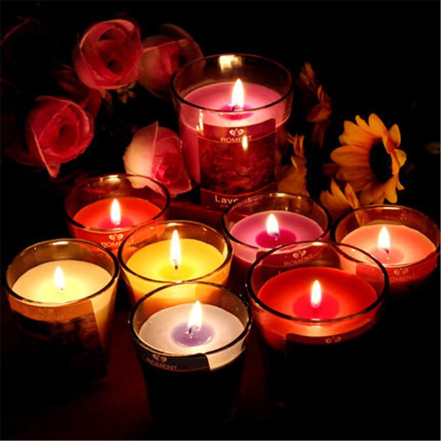 Vetro Profumo di Candele Aromaterapia Velas Perfumadas Pilastro Candela Profumata Yankee Candele di Cera Che Fanno Casa Cera Bougies QQZ41
