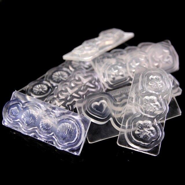 1 Pc Silikonowe 3D Nail Art Szablon Mold Dla Akrylowa UV Manicure Nail Art Dekoracje DIY Nail Art Design Szablony narzędzia