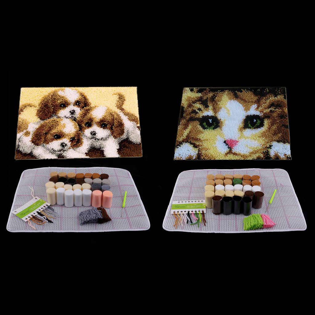 Dog Cat Latch Hook Kits With Basic Tool