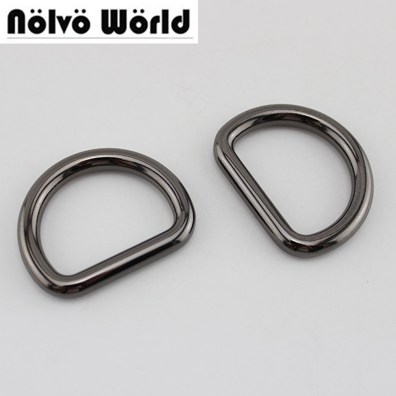 30pcs 5 Colors 6.0mm Webbing 3.2*2.5cm 1.2 Inch Closed D Rings,alloy Metal Cast Solid Dee Ring