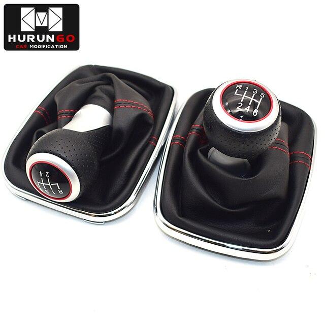 Palanca de cambios de diseño cromado de 12mm 5 / 6 velocidades para Volkswagen VW BORA GOlf MK4 / 4 IV / JETTA GTI 1999-2005