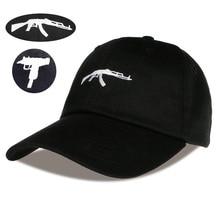 2018 Rusia ee.uu. enfriar pistola Uzi gorra de béisbol Ak47 Snapback Hip  hop Cap Casual Curve Visor sombrero casquette de marque. a18441346f4