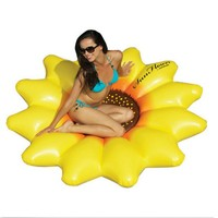 Best Selling Giant Inflatable 72 Sunflower Island Swimming Pool Raft Float Sunflowers Are Beautiful Blossoms Chair