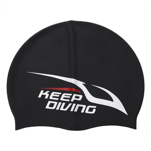9fc742cd39a Elastic Silicone Swimming Cap Waterproof Swim Pool Hat Cover Ear Long Hair  Protection Swim Caps For