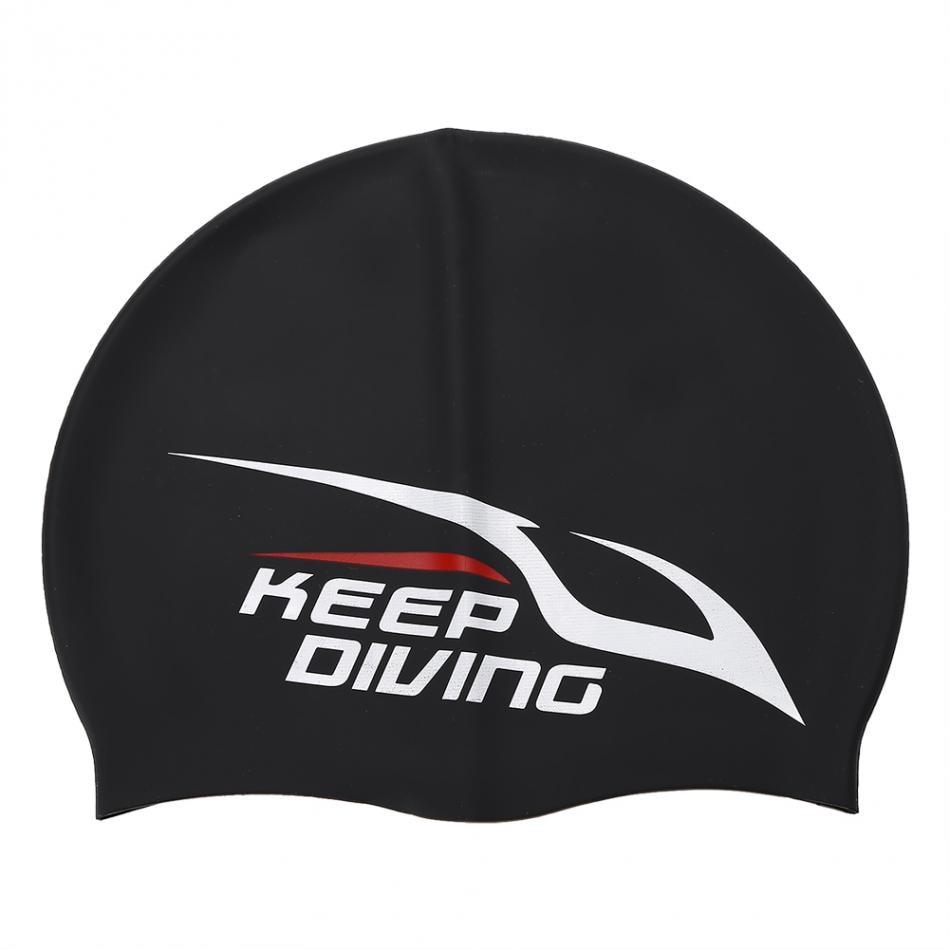 Elastis Silikon Topi Renang Tahan Air Berenang Penutup Cap Kepala Untuk 5 Telinga Perlindungan Rambut Panjang Dewasa Anak Unisex Di