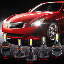 2pcs 72w led headlight bulb 6000k 12v H4/9003 H13/9008 9004 9007 9005 9006 5202 H10 HB3 HB4 H3 H7 H8 9 11 LED fog lamp 3000K(China)