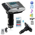 Quente sem fio Carro MP3 Player Bluetooth Transmissor FM Modulador USB SD LCD Remoto