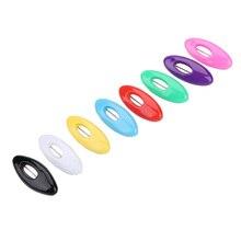 6pcs Ovale di Colore Ago Musulmano Foulard Sciarpa Ago Fibbia Sciarpa Spille Accessori In Plastica di Sicurezza Spille di Colore Accessori di Cucito