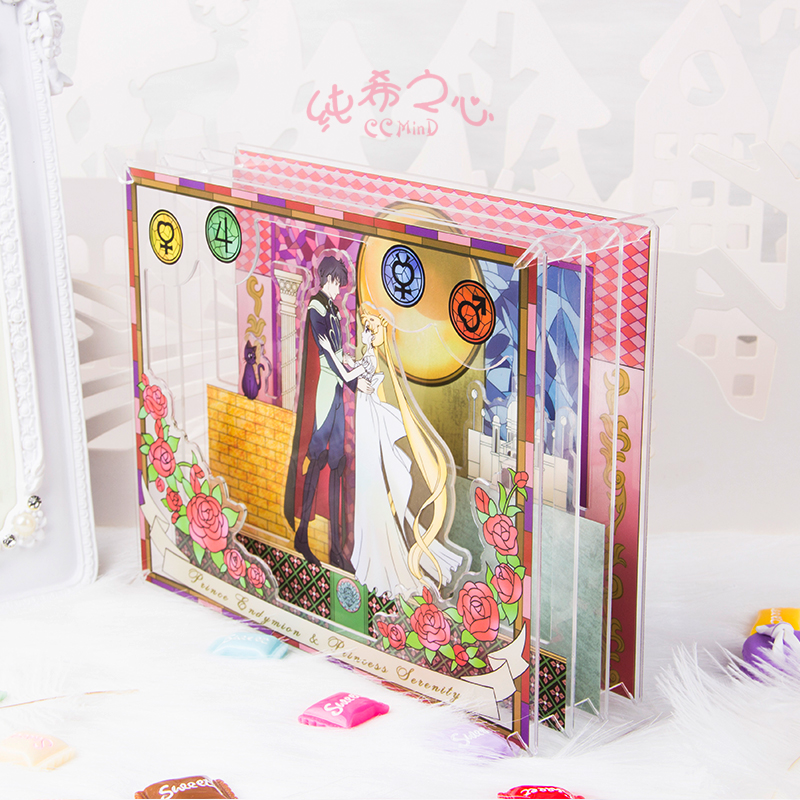 Pretty Soldier Sailor Moon Sailormoon Anime Including 4 Pieces Acrylic Card Stand
