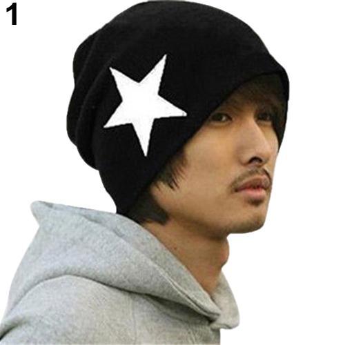 92cc04ca0e71c0 Cool Unisex Women Men Pentacle Star Warm Hip-Hop Knit Cap Ski Skull Beanie  Hat