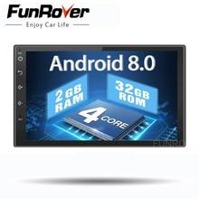 Two 2 din car radio gps android 8 0 stereo Car dvd Player Universal Autoradio Navigation