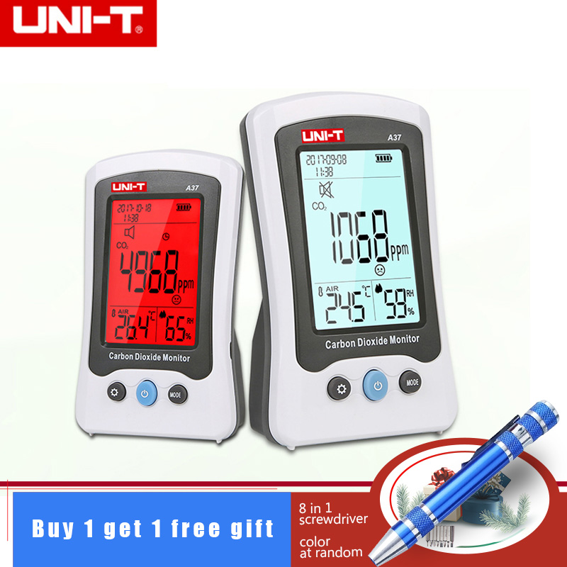 1Pcs UNI T A37 Digital Carbon Dioxide Detector Laser Air Quality Monitoring Tester CO2 Detection 400