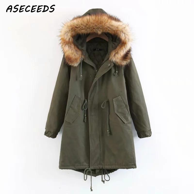 winter jacket women Army Green Hooded Parkas women red army overcoat casual Warm Thick Down jacket oversize 2018 winter coat
