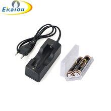 ЕС Plug стены AC Зарядное устройство адаптер 18650 Li-Ion Перезаряжаемые Батарея Зарядное устройство и 2×18650 4000 мАч Батарея + хранения коробки