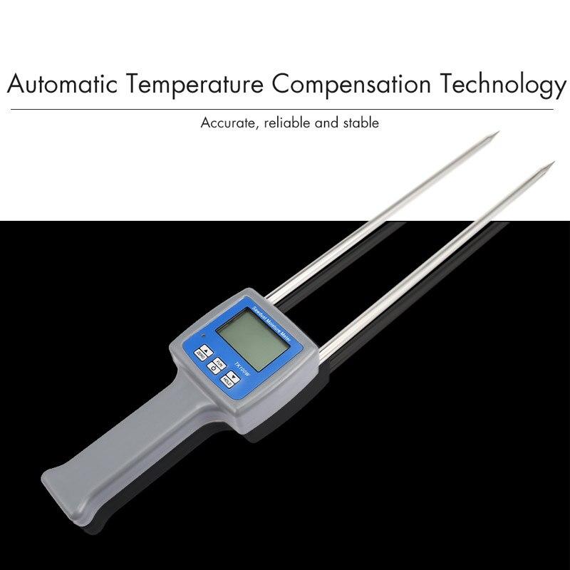 Multifunction Moisture Tester Meter Water Content Tester For Coal Wood Sawdust Powder Bran Straw Grain Fibre Hygrometer
