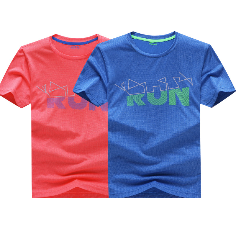 Boys T-Shirts Printed Sports-Function Children Summer Outdoor for 120-170cm Top-Tees