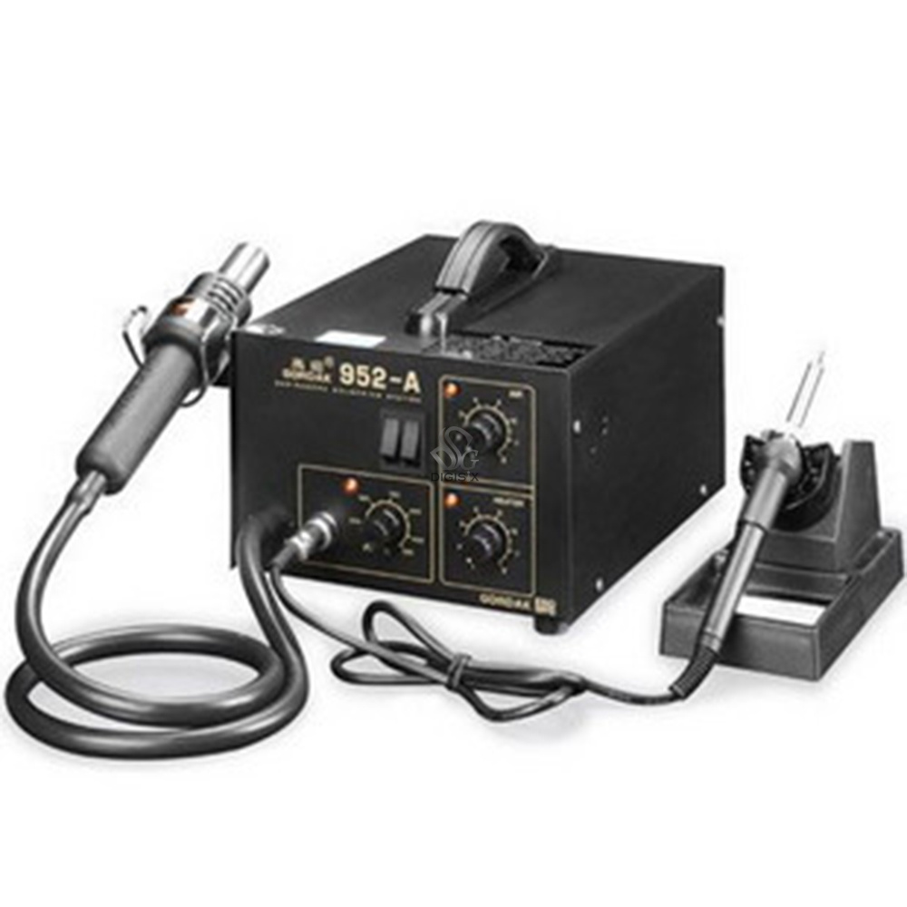 Free shipping New 952A 952-A Hot Air gun soldering iron 2 in 1 Soldering Station 220V/110V  цены