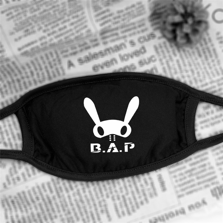 2017 new Black B.A.P Anti-Dust Cotton Mouth Mask kpop collective Masks k-pop BAP star teen Face mouth-muffle face respirator