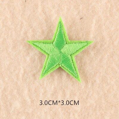 1 шт. смешанные нашивки со звездами для одежды, железная вышитая аппликация, милая нашивка эмблема на ткани, одежда, аксессуары для одежды DIY 61 - Цвет: 61F