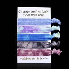 """5/"""" мм 15 мм волос Галстуки, смешанные галстуки(tie-dye, металлик враг), 5 шт./компл., и 10 компл./лот, сложите над elasticchair Галстуки"""