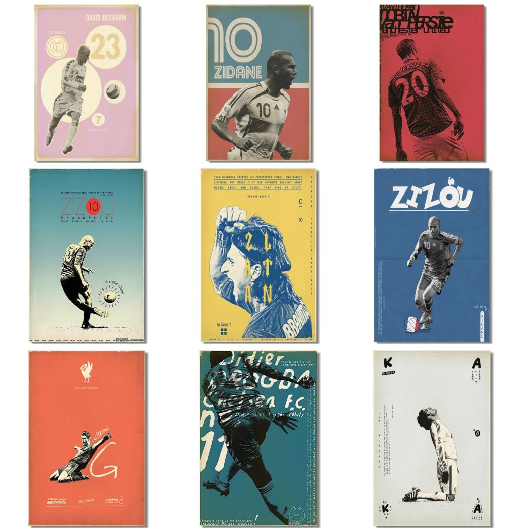 Online get cheap vintage soccer poster for Print posters online cheap