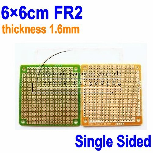 50 teile/los 6x6 cm 6*6 cm 2,54mm 1,6mm FR2 Prototyping Verzinnen Überzogene Einseitig Universal PCB Leiterplatte