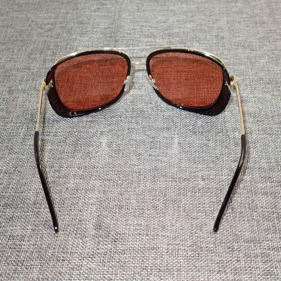 fa2f578b6c Tony Stark Iron Man Sunglasses Men Luxury Brand Eyewear Mirror Punk Sun  Glasses Vintage Male Sunglasses Steampunk Oculos-in Sunglasses from Apparel  ...