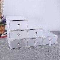 5PCS/set Eco Friendly Shoe Storage Box Case Plastic Transparent Storage Boxes Rectangle PP Shoe Organizer Thickened drawer Tool