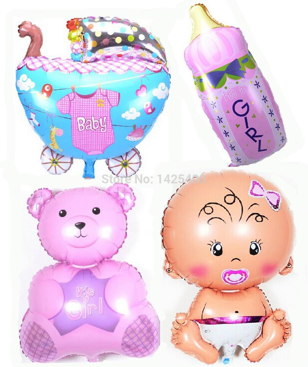 Free shipping new baby - baby - Bears - bottle balloon 4pcs-lots  of children's