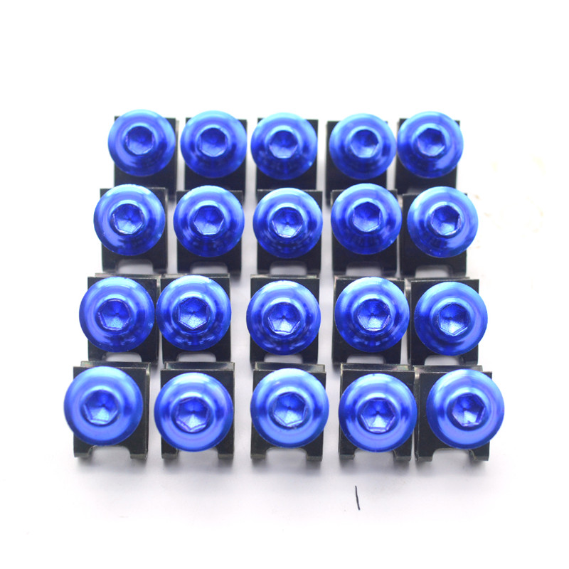 for 20pcs Motorcycle Scooters Fairing Body Bolts M6 6mm Spire Fastener Clips Screw  Nuts For For Benelli BJ600GS bn300 bn600