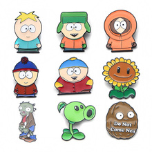 V100 Plants and Zombies Funny Cartoon Metal Enamel Pins and Brooches Fashion Lapel Pin Backpack Bags Badge Collection Gifts v280 game mass effect metal enamel pins and brooches fashion lapel pin backpack bags badge collection