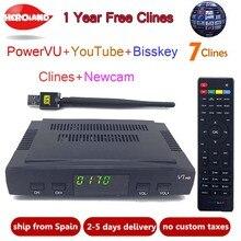 Hero Iand Satellite TV Receiver decoder V7 HD DVB-S2 +USB Wfi with 7 lines Europe C-line server account support powervu Receptor