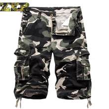 Cargo Tactical Shorts Men Cool Camouflage Summer Hot Sale Cotton Hiking Short Pants Clothing Comfortable Camo Men Cargo Shorts(China)