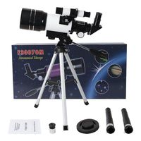 High Power Space Astronomical Telescope Monocular with Tripod Finderscope 3X Barlow Lens for Hobby