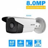 Hikvision DS 2CD2T85FWD I8 цилиндрическая камера 8MP POE безопасности Камера 80 м ИК диапазоне Обновление версии DS 2CD2T85FWD I5