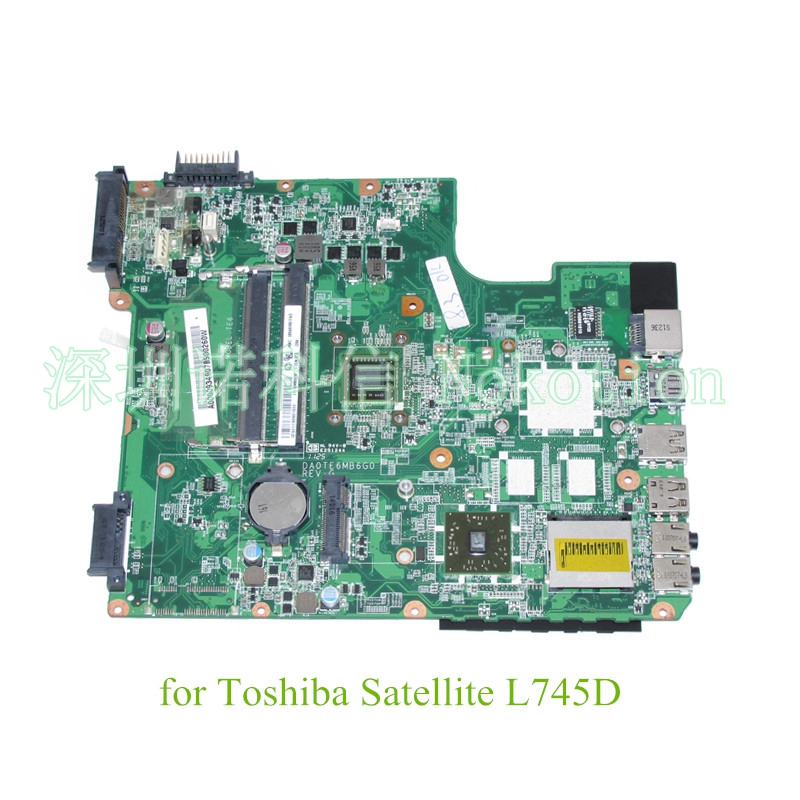 NOKOTION DA0TE6MB6G0 REV G A000093490 For Toshiba Satellite L745 L745D laptop motherboard EME350 CPU DDR3 h000079530 main board for toshiba ca10an ab laptop motherboard ca10an ab uma mb rev 2 1 ddr3 with cpu onboard