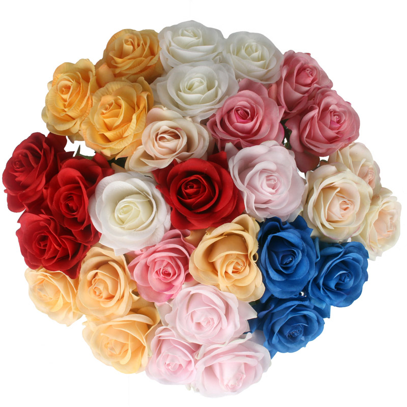 JAROWN Artificial Real Touch Hand Feel Rose Flowers For Valentine`s Day Preparation Wedding Decoration Home Decor (4)