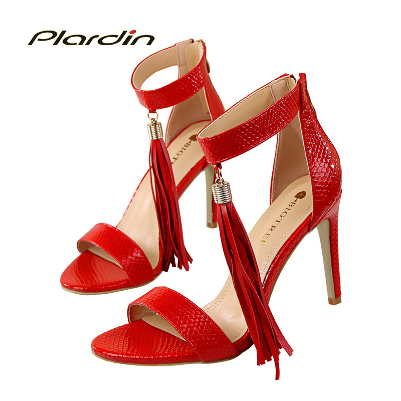 ФОТО plardin 2017 New Shoes Woman Pointed Toe Sexy Women Party Wedding Nightclub Shallow Mouth Two Piece Side High Heel Pump