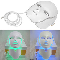 LED7Colors Light Microcurrent Facial Mask Beauty Instrument Therapy Skin Rejuvenation Facial Neck Mask Whitening Electric Device