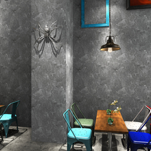 Retro wallpaper nostalgic personality industrial style gray plain new Nordic living room restaurant clothing store blue wallpap