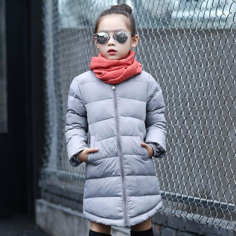 Casual Uzun Kış Çocuk Kız Aşağı Palto Kore Kalın Uzun Ceket Kız Giyim Yüksek Kaliteli Çocuk Giysileri için Sıcak WT1005