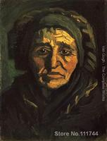 Art For Living Room Wall Head Of A Peasant Woman With A Greenish Lace Cap By