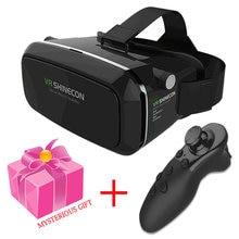 Hot! 2017 Google Cardboard VR Headset Shinecon Immersive HD Virtual Reality 3D Glasses Add 4.0 Bluetooth gamepad Remote Control