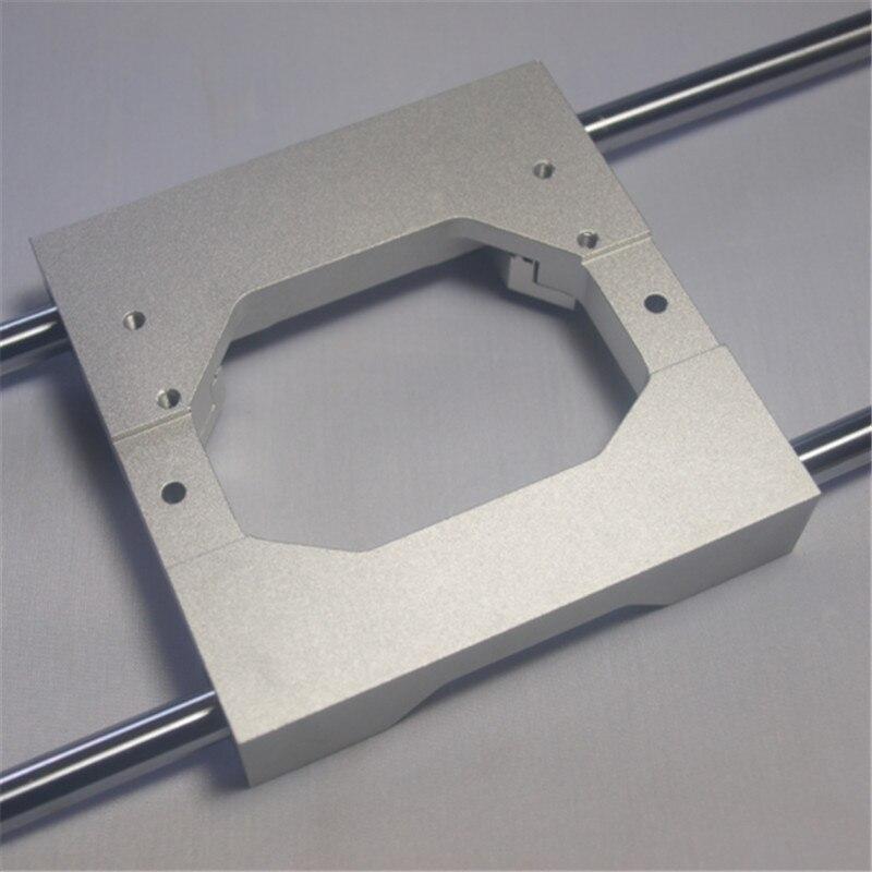 CNC Replicator 2X extrudeuse en aluminium alliage transport 8mm mise à niveau en aluminium alliage X axe double extrudeuse transport kit